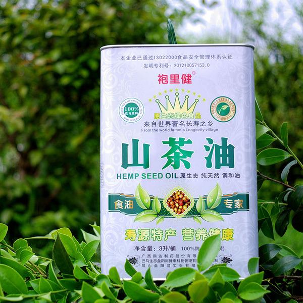 长寿之乡特产 正品物理一级压榨3升/桶袍里健山茶油 送礼佳品